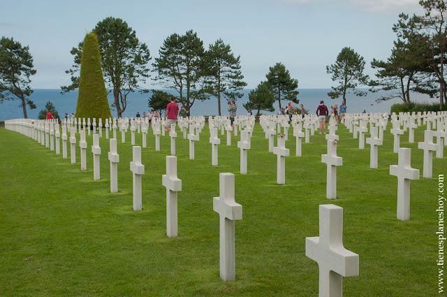 Viaje Normandia visita Cementerio Americao II GUerra Mundial