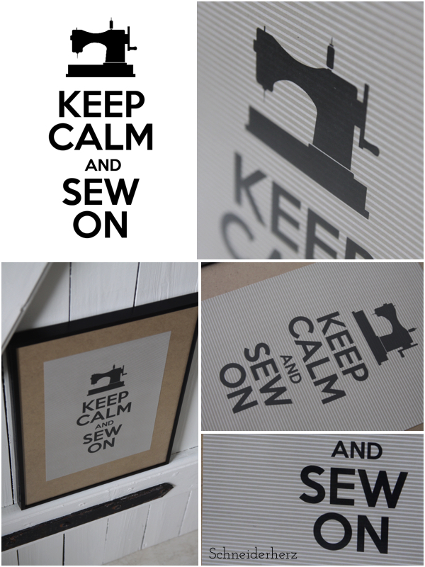 Plakat Druckvorlage Nähzimmer Keep Calm Sewing Free