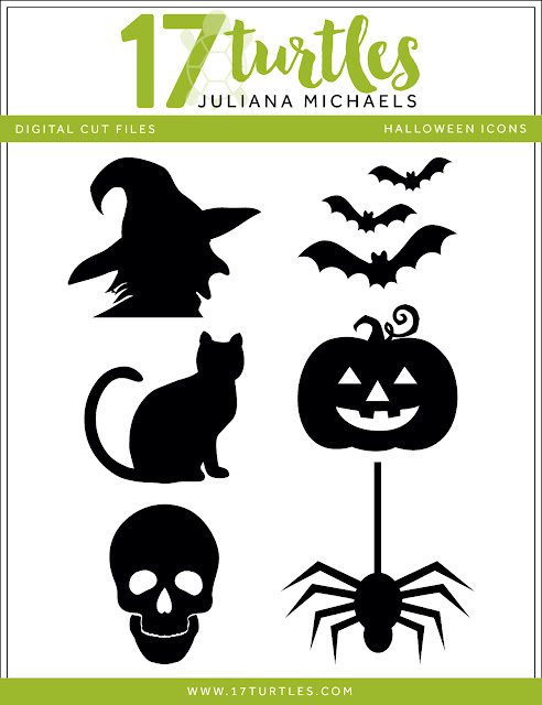 Halloween Icons Free Digital Cut File by Juliana MIchaels 17turtles.com