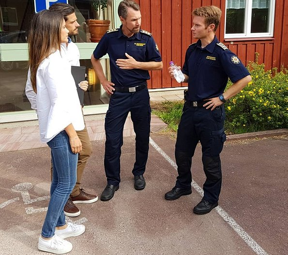 Prince Carl Philip and Princess Sofia visited Älvdalen region affected by forest fires. Älvdalen district, Dalarna