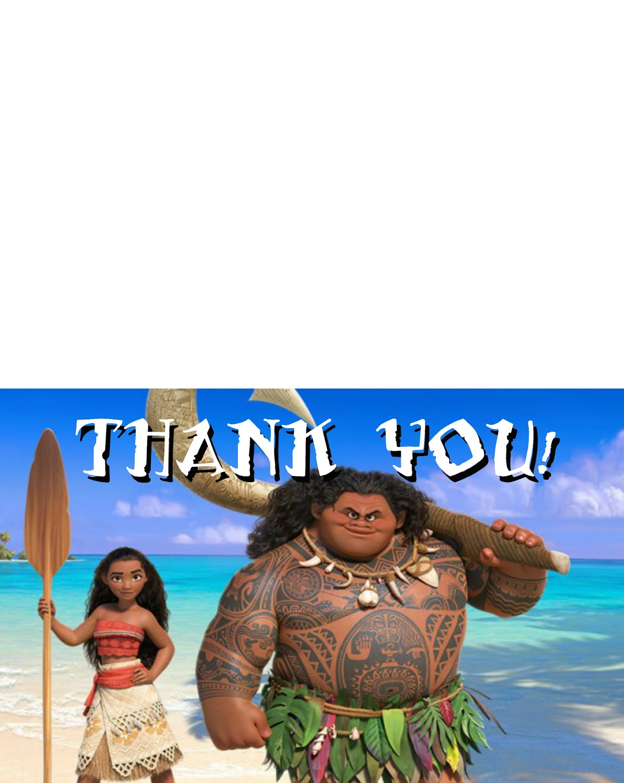 Musings of an Average Mom: Moana Thank you Cards