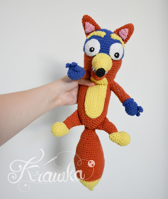 Krawka: Swiper fox crochet pattern by Krawka from Dora the explorer kids tv show