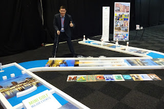 The Putting Edge minigolf layout at the Prolific North Live Show earlier this year