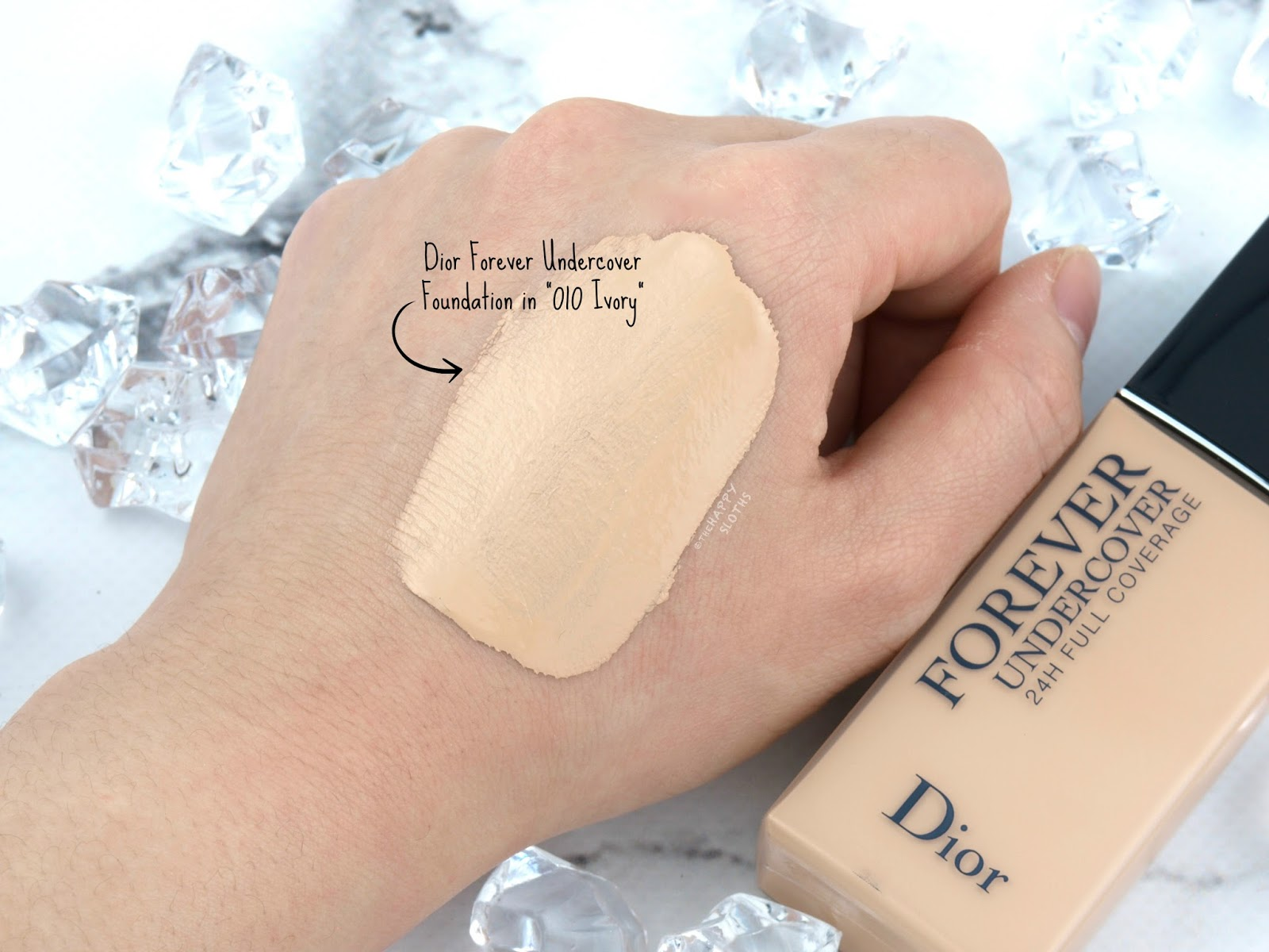 "Dior | DiorSkin Forever Undercover Foundation in ""010 Ivory"": Review and Swatches"