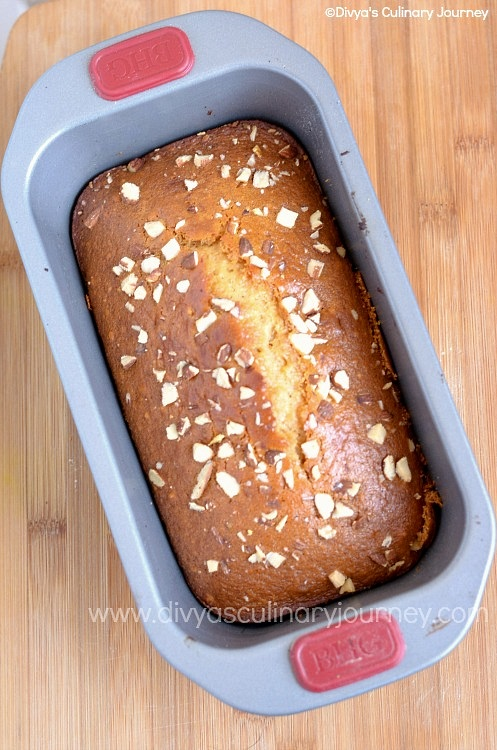Loaf cake sweetened with honey.