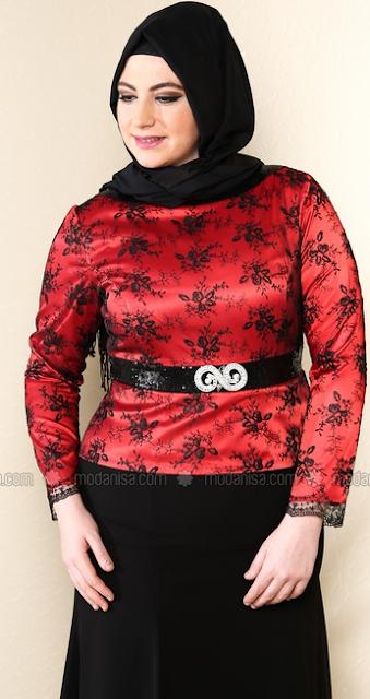 Model Baju Batik Muslim Big Size Terbaik 2017