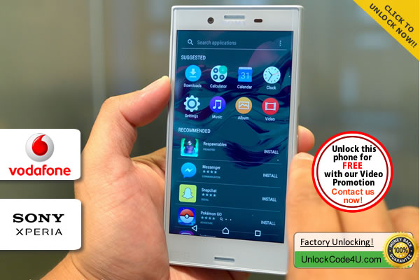 Factory Unlock Code Sony Xperia X Compact from Vodafone