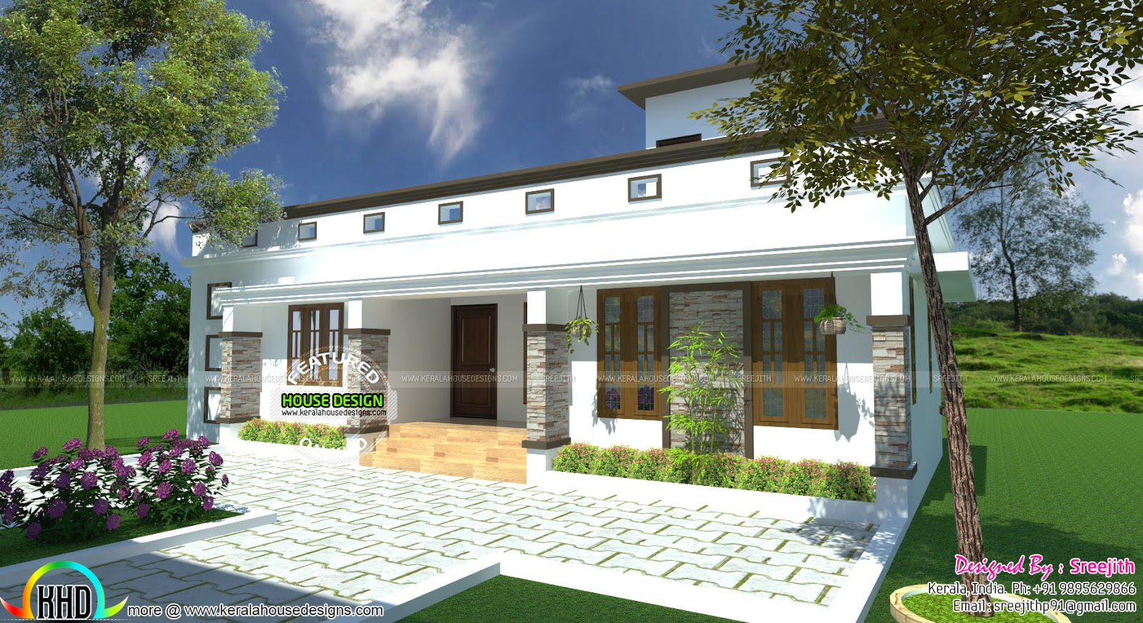 architecture kerala below square feet house plan and