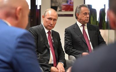 Vladimir Putin at the meeting with FIFA President Gianni Infantino.