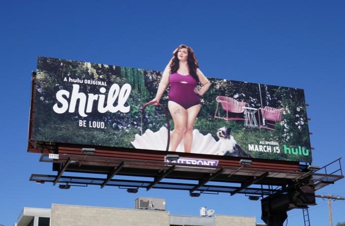 Shrill Hulu extension cut-out billboard