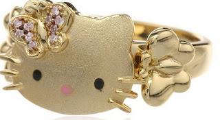 Gambar Cincin Hello Kitty Emas 3