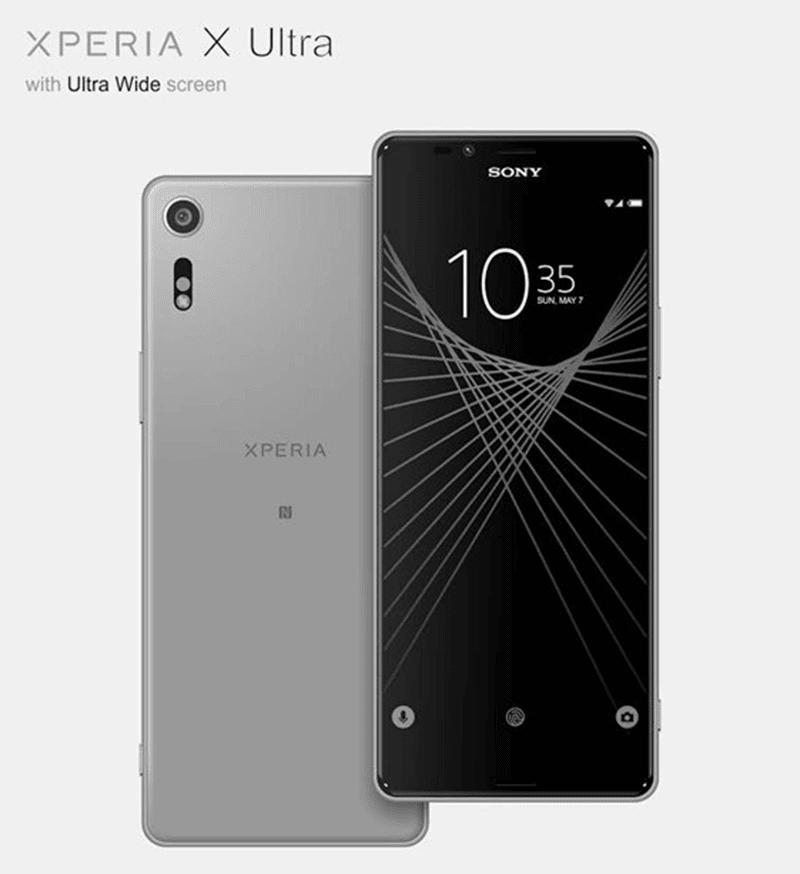 Sony Xperia X Ultra in gray