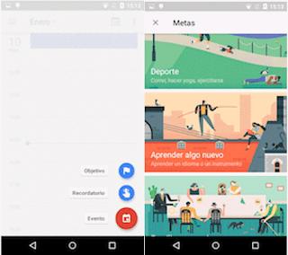 YoAndroideo.com: Cumple tus propositos de año nuevo con Google Calendar y Google Fit