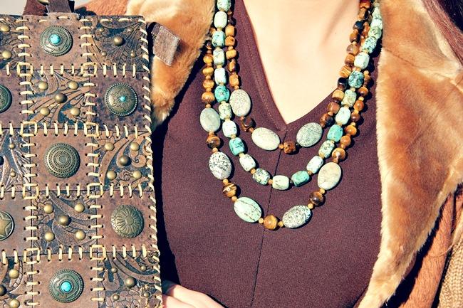Glam Chameleon Jewelry Turquoise eye handmade necklace