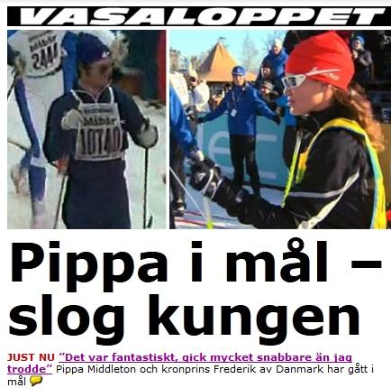 Pippa snabbare an kungen