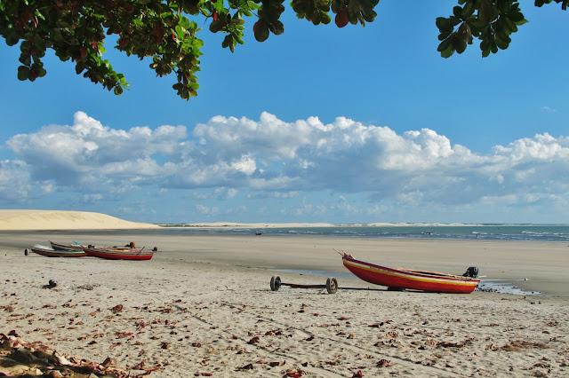Praia de Jericoacoara e duna do pôr do Sol