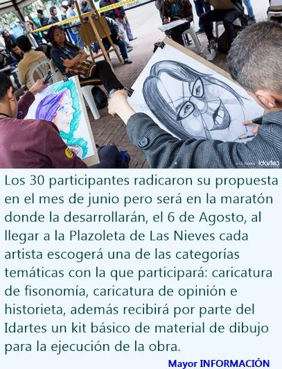 GRAN MARATÓN DE DIBUJANTES Y CARICATURISTAS EN BOGOTÁ