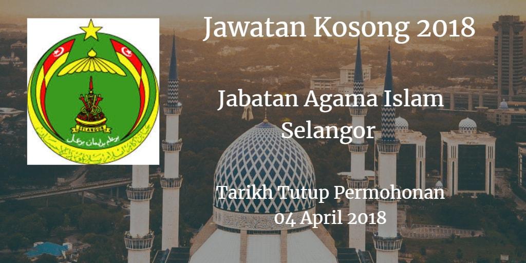 Jawatan Kosong JAIS 04 April 2018