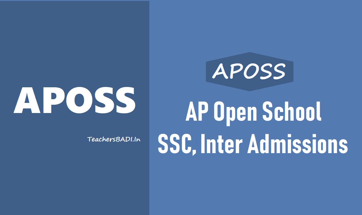 APOSS SSC - Inter Admissions 2019 (AP Open School SSC, Inter