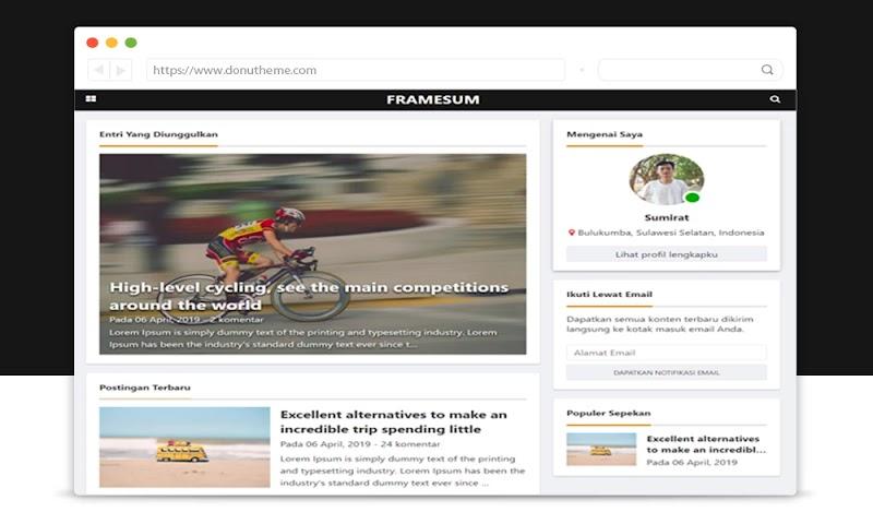 Framesum Responsive Blogger Template - Responsive Blogger Template