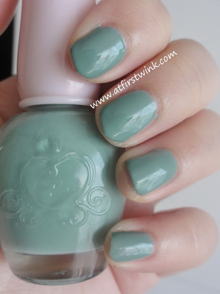 Etude House nail polish DGR703 - mink mint