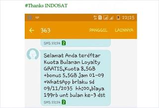 Paket Internet 8 GB Indosat Ooredoo Gratis