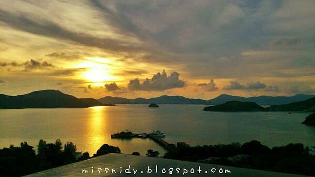sunset at baba nest phuket