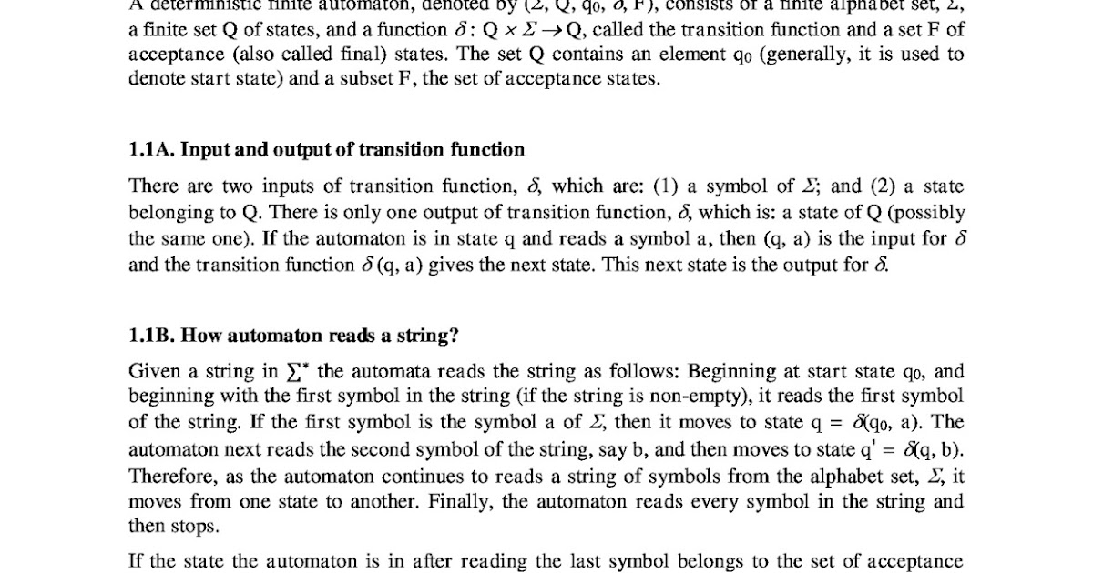 Introduction Of Alphabet String And Languages Finite Automata