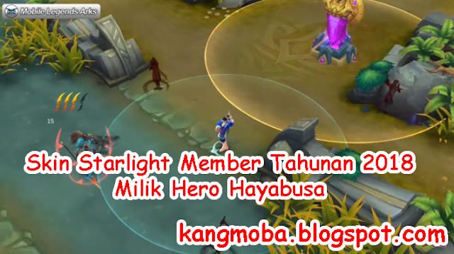Skin Starlight Member Tahunan 2018 Milik Hero Hayabusa | KangMoba