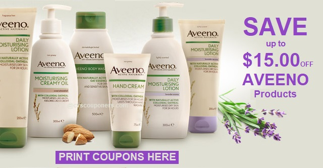 Aveeno Coupons | SAVE off Aveeno Products