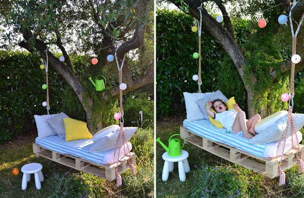 Instrucciones para hacer una cama for Idea per giardino