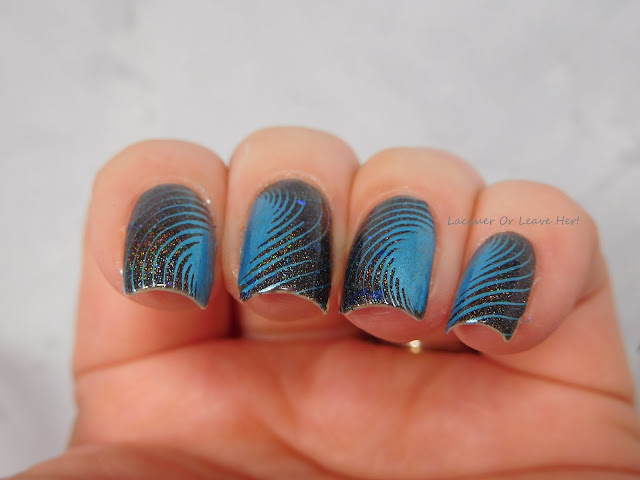 Galactic Ice: Spellbound Nails Dementor + UberChic Beauty Op Art Magic Plate