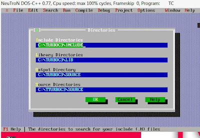 Turbo C++ directories