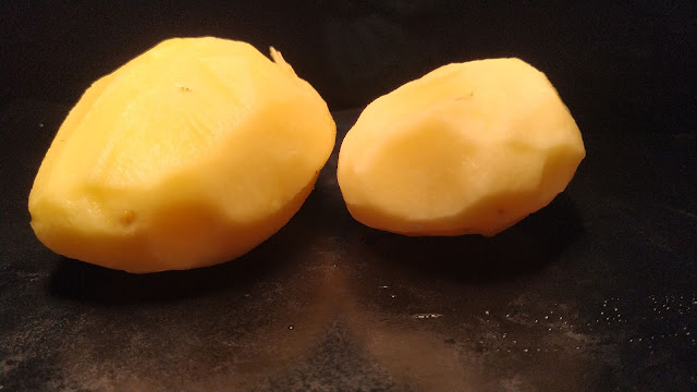Two peeled Potato Dinner ideas Food recipe