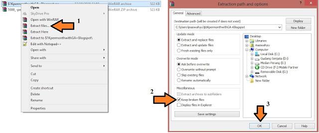 cara memperbaiki file rar yang rusak