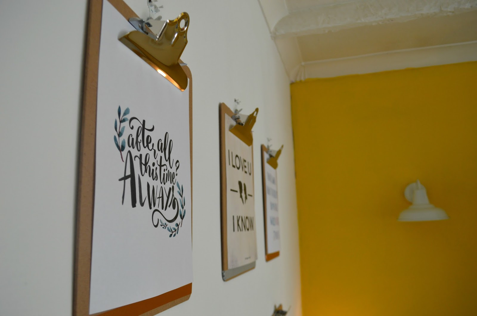 Quick home update: clipboard wall display | To Become Mum