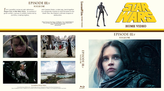 Rogue One: A Star Wars Story Bluray Cover