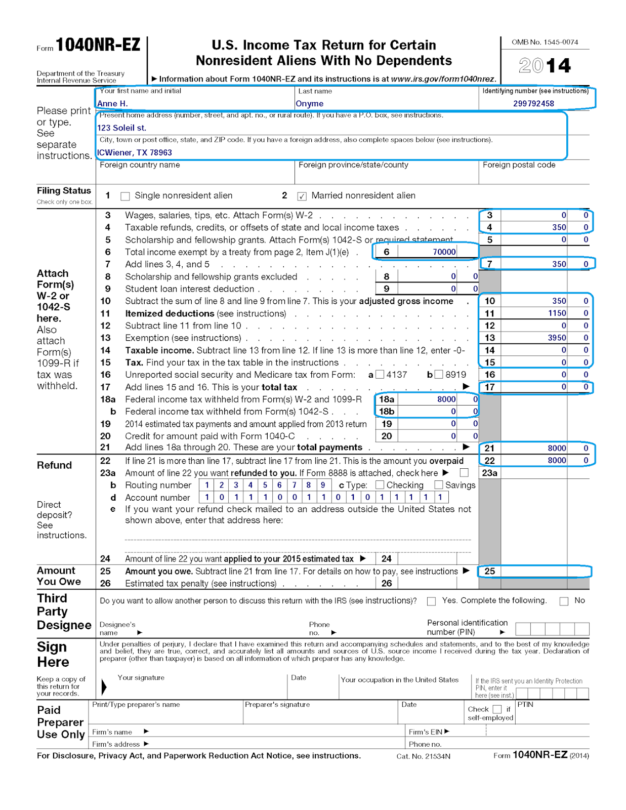 Federal Sales Tax Exempt Form