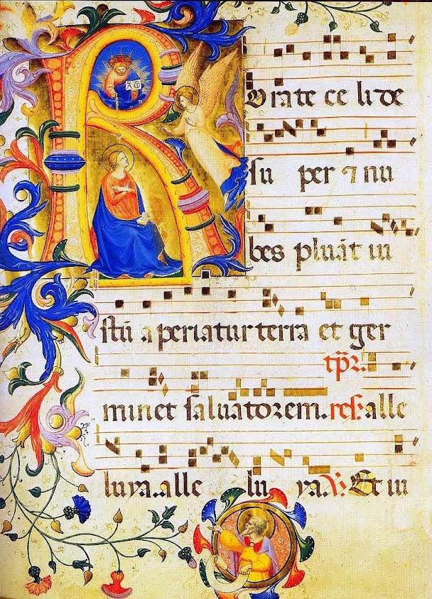 Rorate caeli, miniatura em antifonario medieval