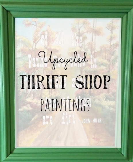 Upcycled thrift shop paintings