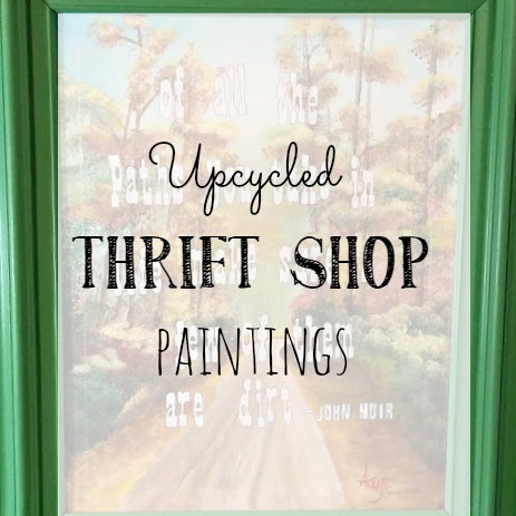 Before and After Thrift Shop Flips - More Upcycled Paintings