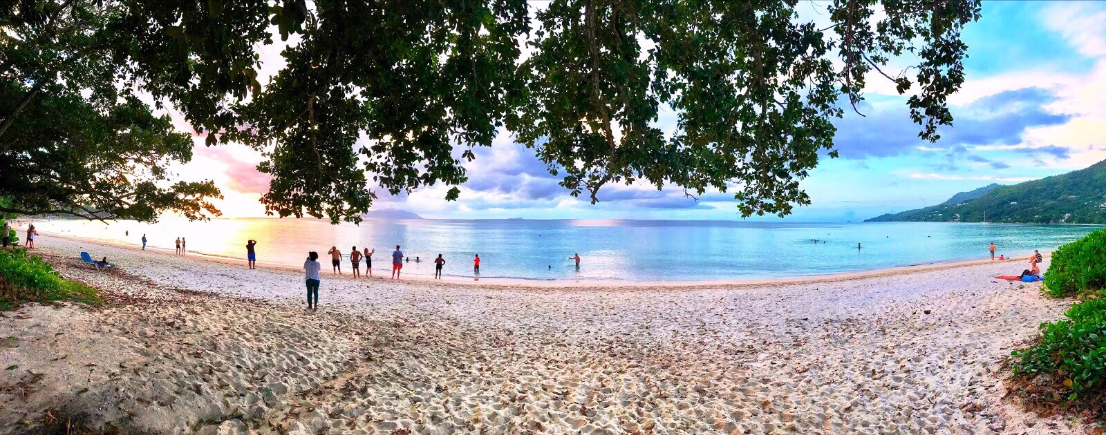 Panorama View of Beau Vallon Beach on Mahé Island, Seychelles