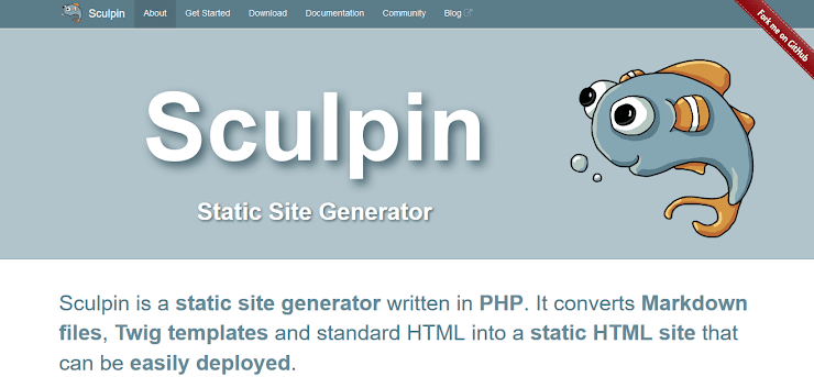 PHP powered static site generator