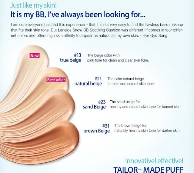 Laneige Snow BB Soothing Cushion Review, Laneige BB cream review, Laneige Cushion review, Laneige Indonesia