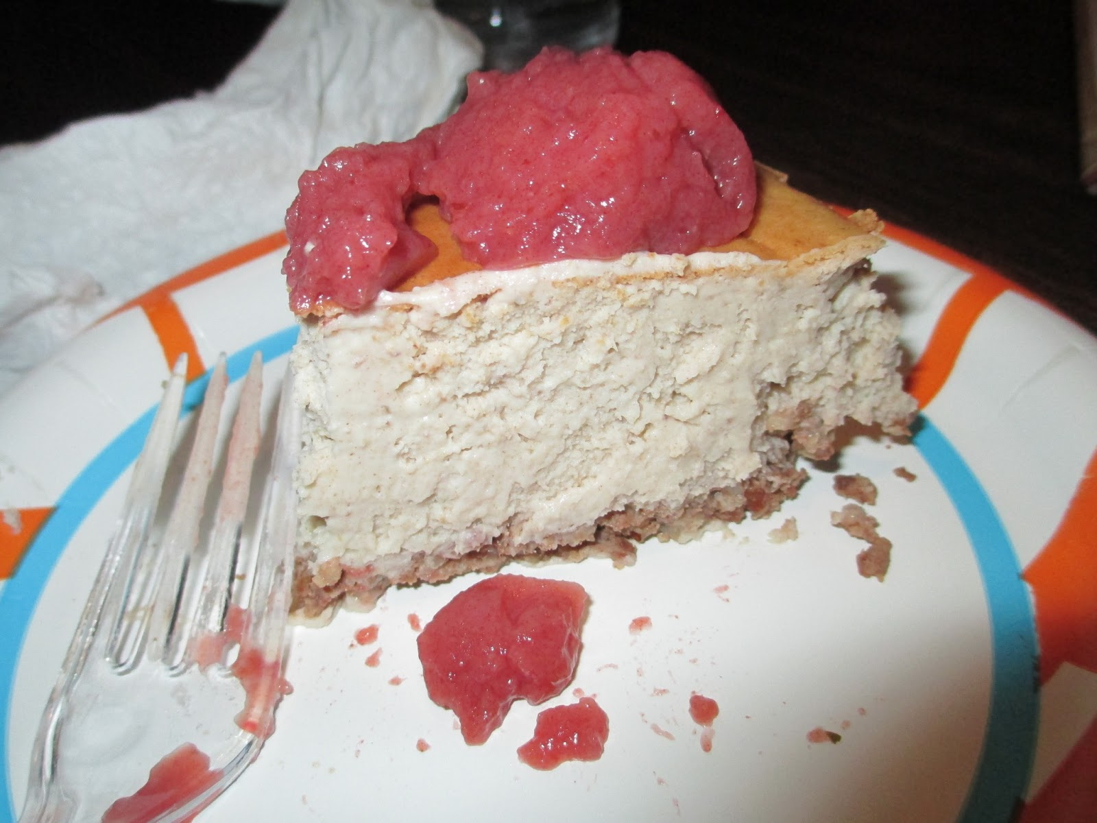 Green Pitta: Date Sweetened Cheesecake with Pecan Crust