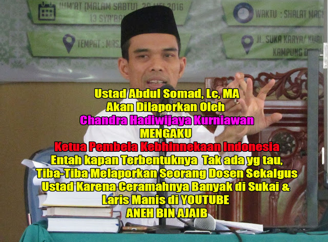 Ustadz Abdul Somad, Lc, MA Akan Dilaporkan Kepolisi Karena Ceramahnya Mendukung Habib Rizieq