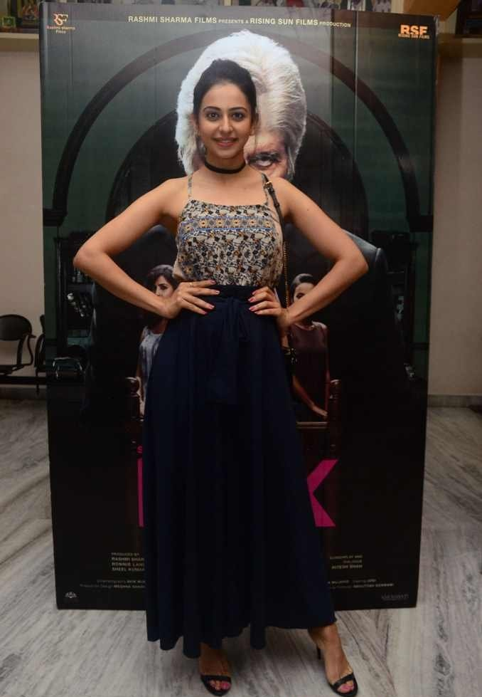 South Indian Actress Rakul Preet Singh Photos At Pink Movie Premier Show