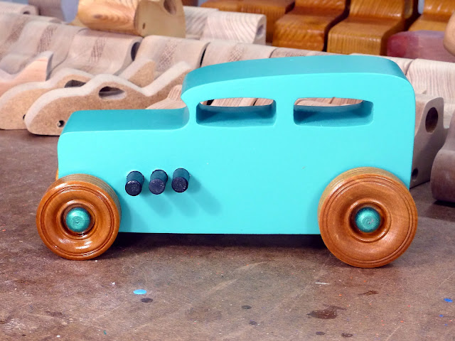 20170521-153012 Wooden Toy Car - Hot Rod Freaky Ford - 32 Sedan - MDF - Air Brushed Acrylic