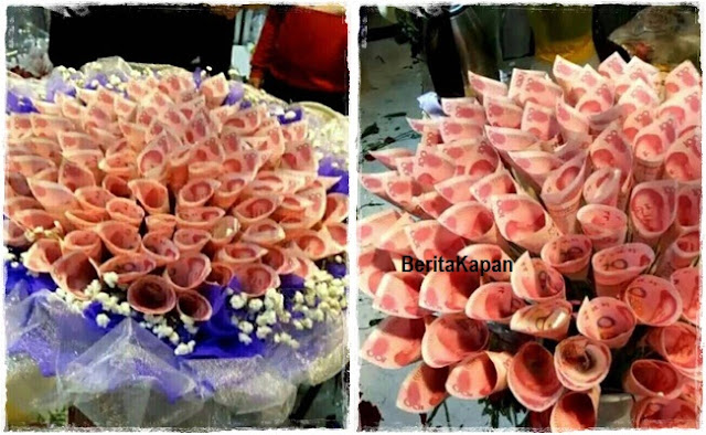 Wow, Pria Ini Lamar Kekasih Dengan Buket Bunga Dari Uang Tunai