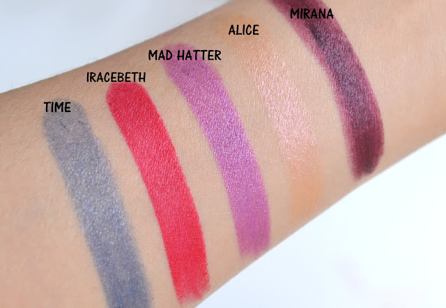 Urban Decay Alice Through the Looking Glass Lipstick Swatches
